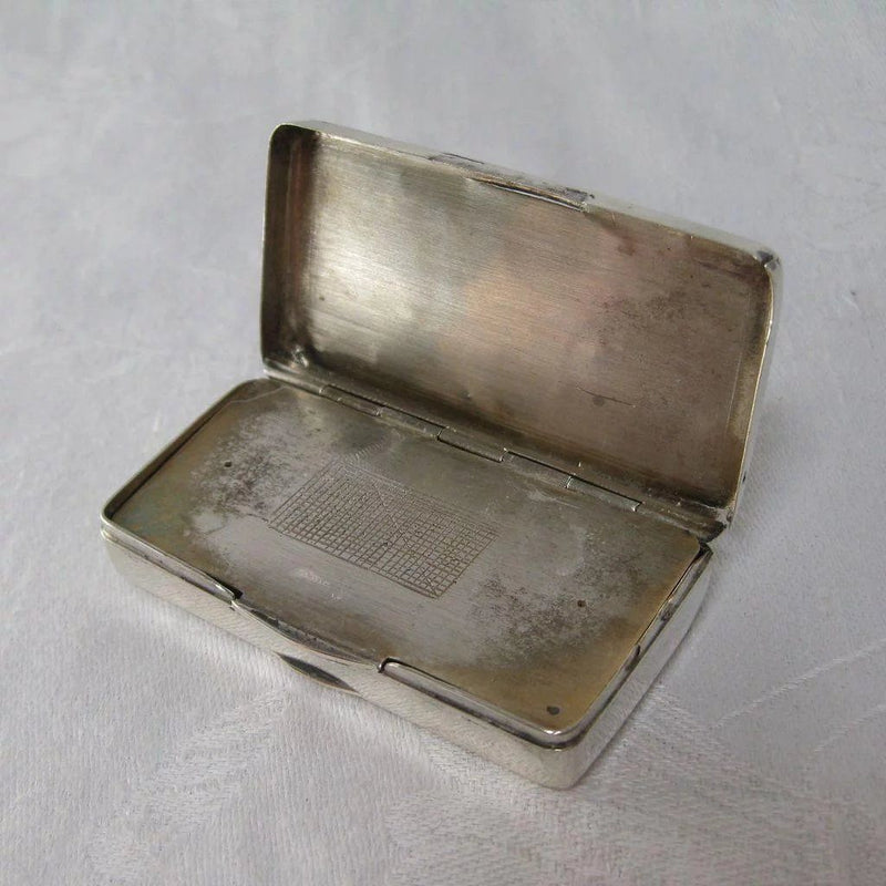 Rare French Silver (800) Match Safe with Castle Top, circa 1870s Case Kirsten's Corner Jewelry