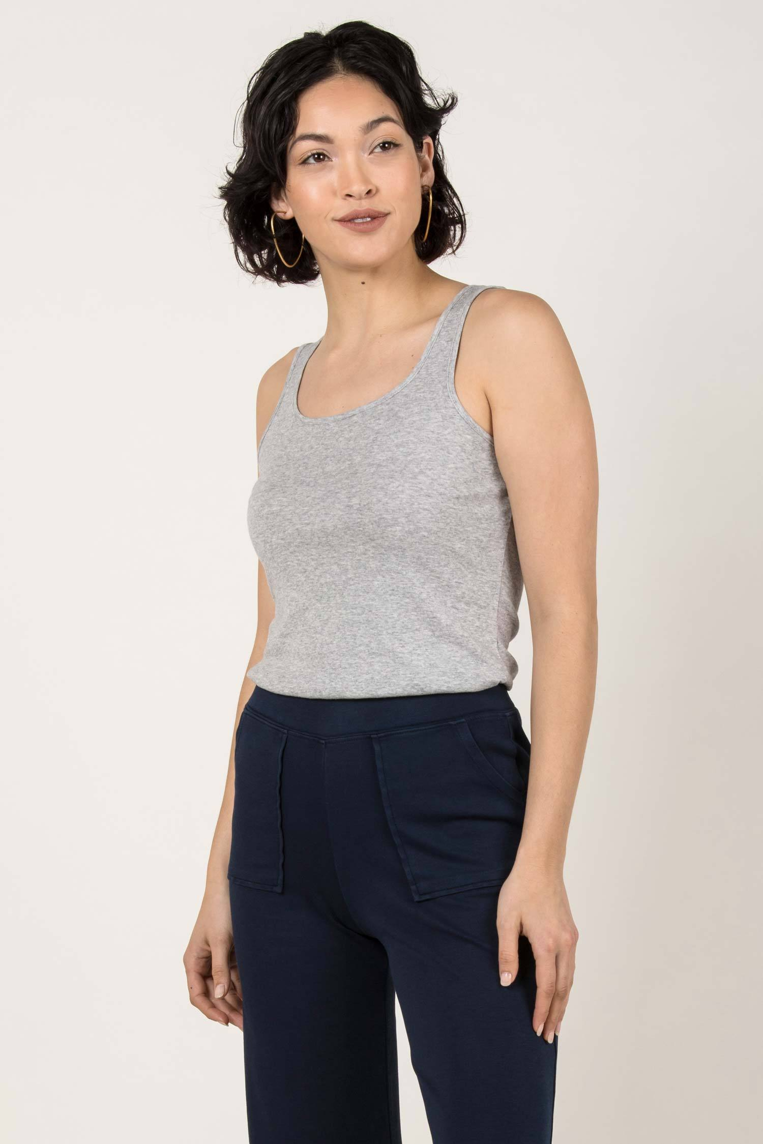 Womens Organic Cotton Tank Top | Organic Essential Tank | Gray