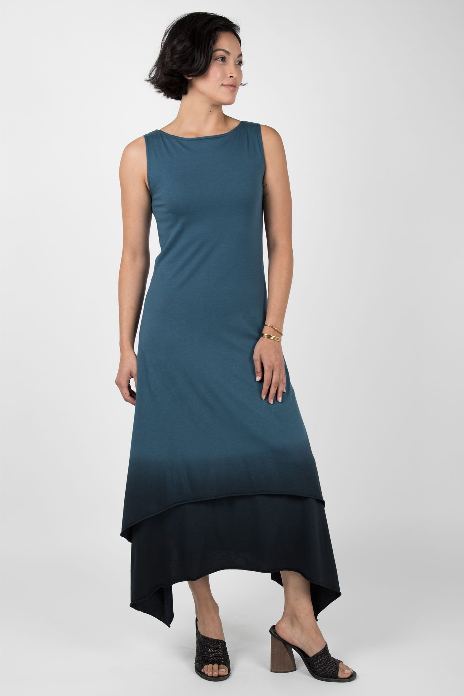 Ombre Boatneck Dress
