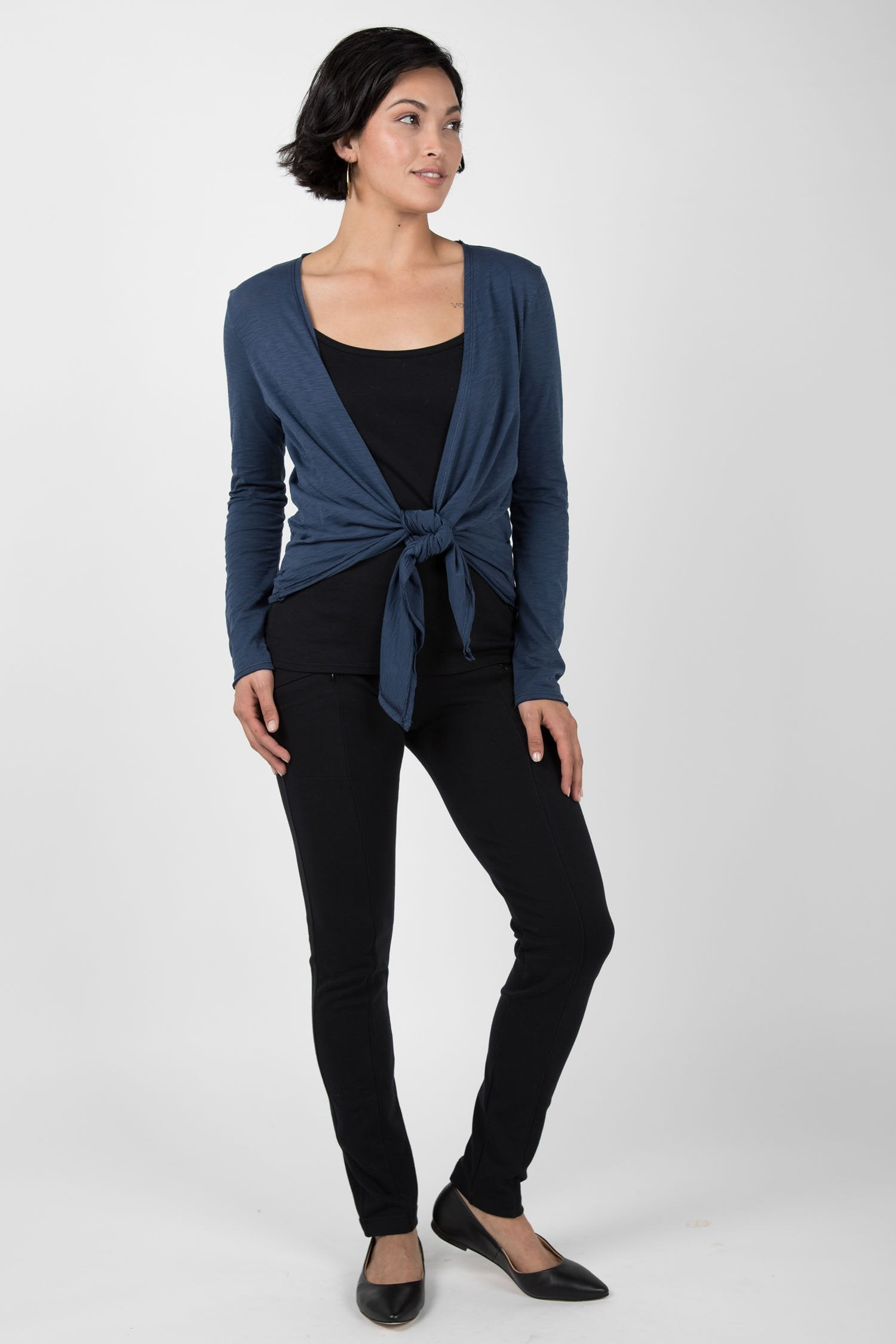 Womens Organic Cotton Cardigan | Blue