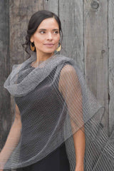 Handloomed Silk Scarf | Parallel Structure Scarf | Indigo Handloom