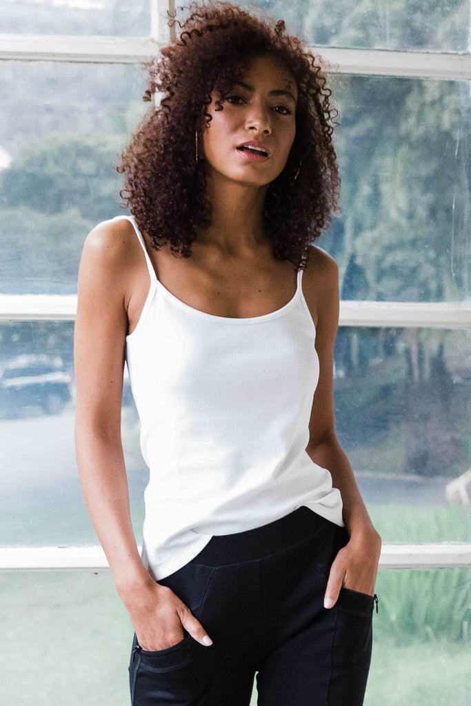 Womens Organic Cotton Camisole | White | Organic Clothing