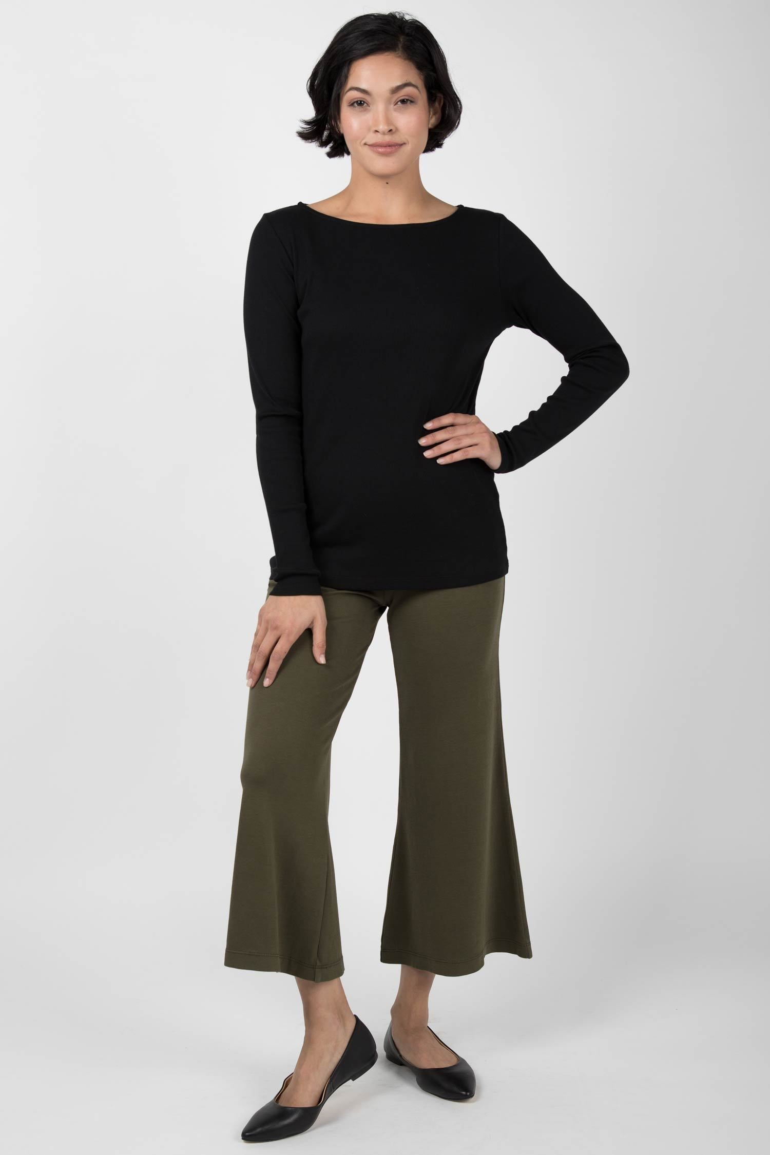 Essential Cropped Wide Leg Pant
