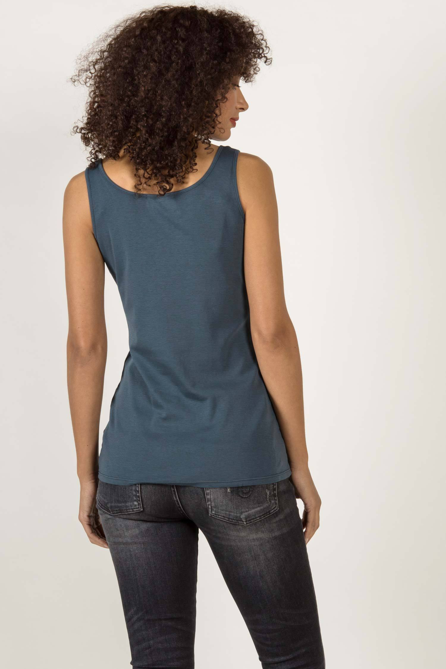 Womens Organic Cotton Tank Top | Organic Essential Tank | Navy Blue
