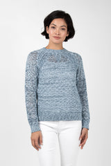 Open Knit Crew Neck