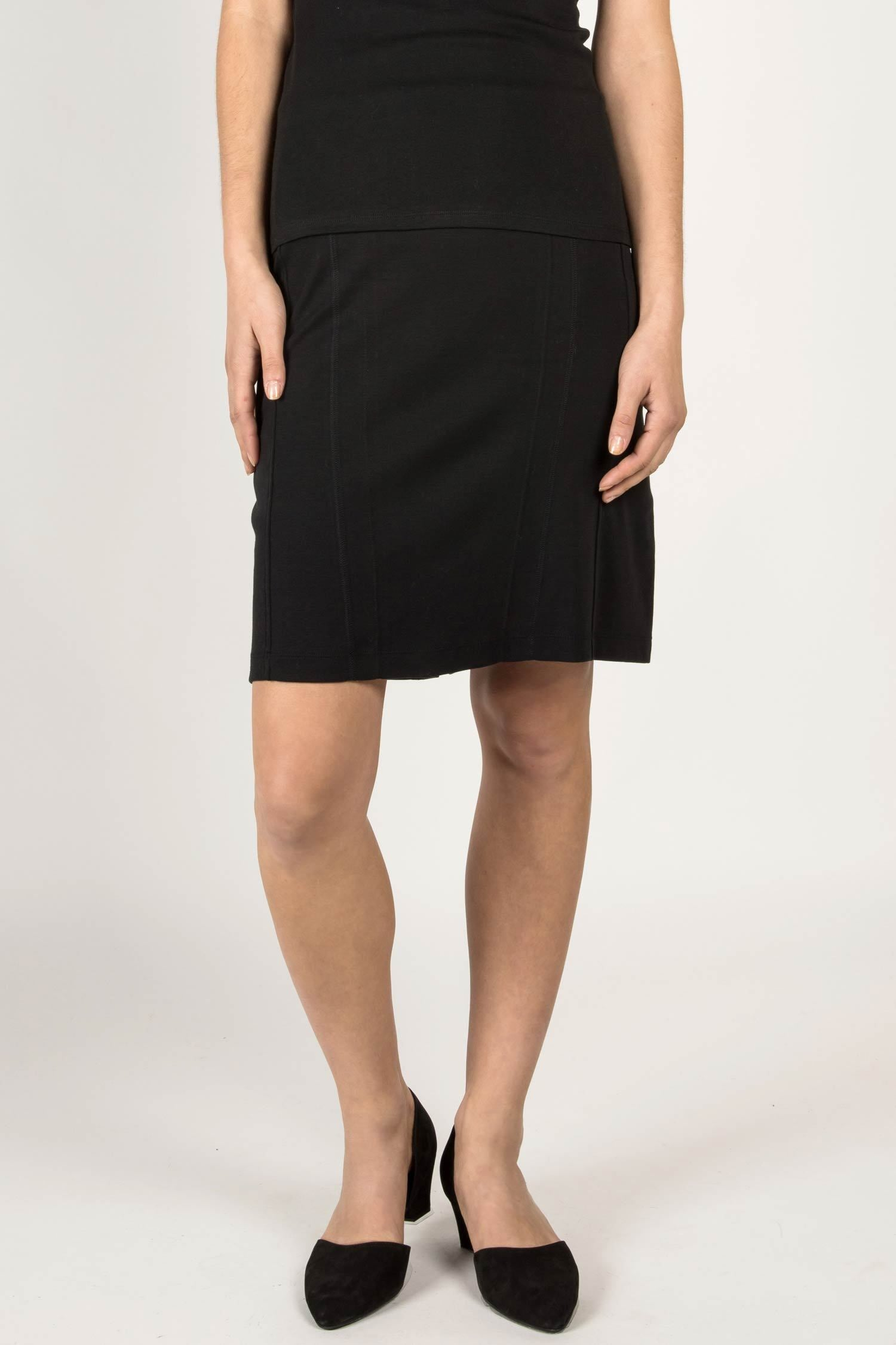 Womens Organic Cotton Skirt | Essential Pencil Skirt | Black