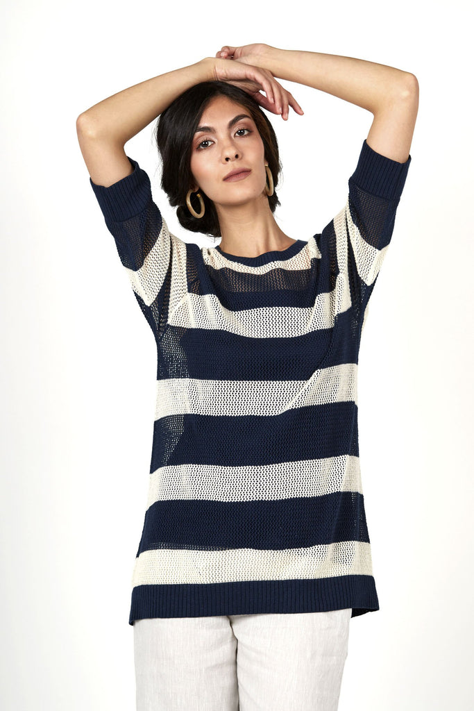 Seaside Stripe Pullover Top