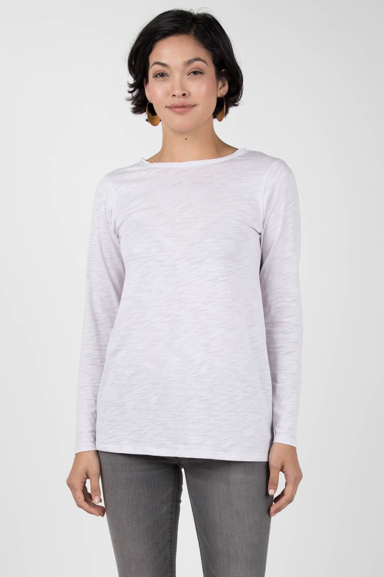 Womens Organic Cotton Shirt | Reversible Boatneck Top