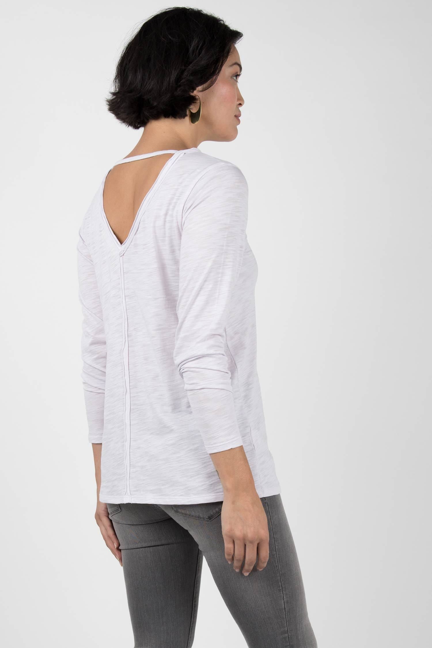 Womens Organic Cotton Shirt | Reversible V Back Top