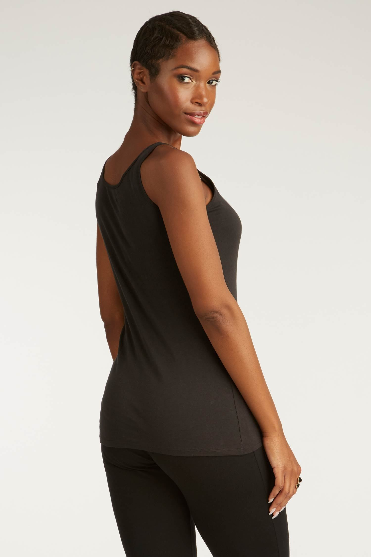 Womens Organic Cotton Tank Top | Organic Essential Tank | Black