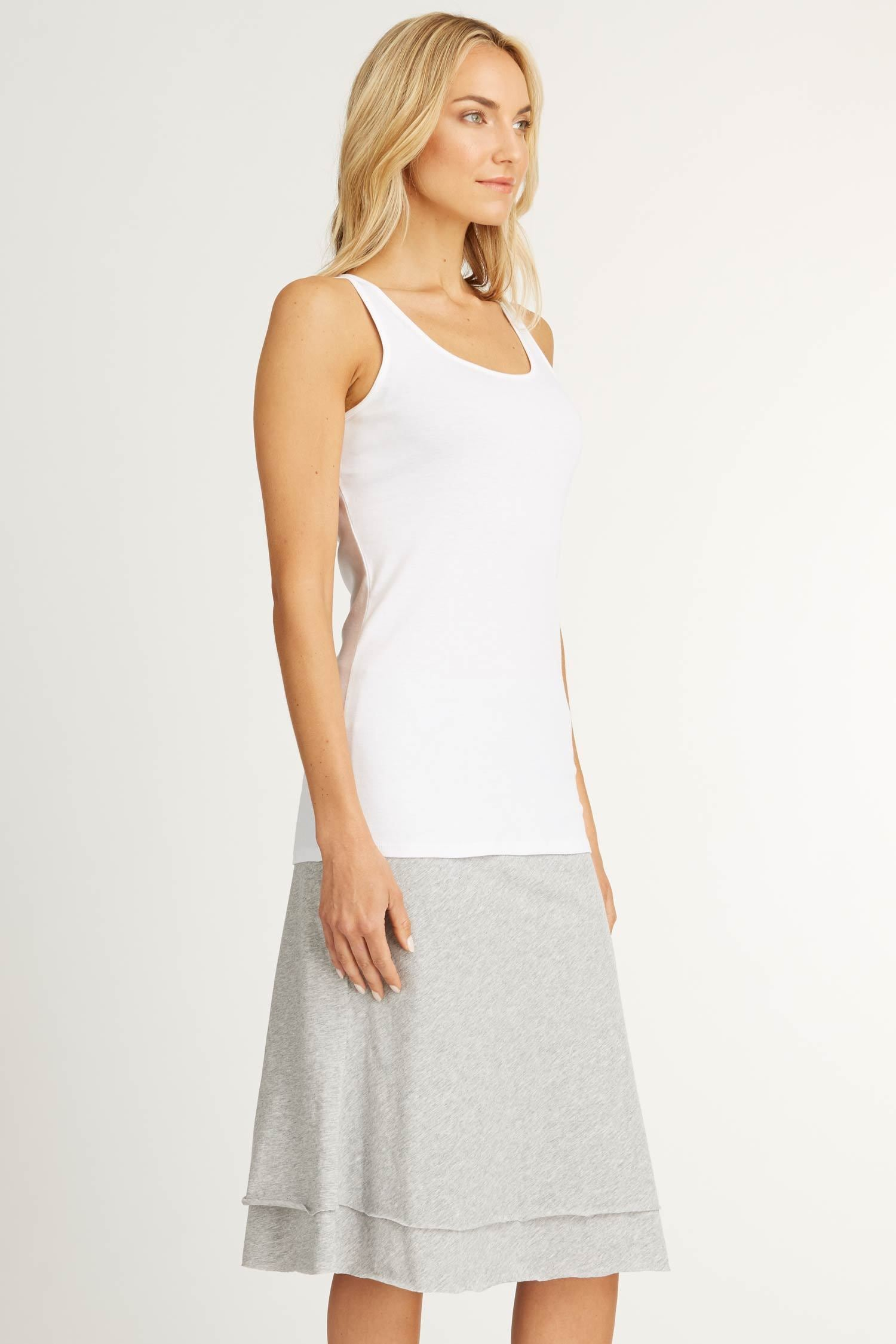 Womens Organic Cotton Tank Top | Organic Essential Tank | White