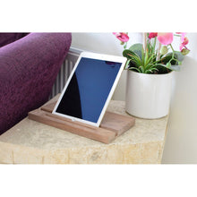 """Slide-Strong"" Apple iPad ' Classic ' Stand / Dock - Walnut"