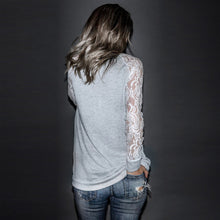 """Melanie"" Long Sleeve Lace Top"