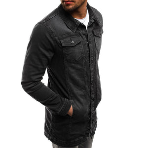 """Tunic"" Longline Winter Denim Jacket"
