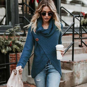 """Sarah"" Knitted O Neck Sweater"