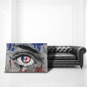 American Eye - Framed Canvas Painting Wall Art Office Decor, large modern pop artwork for home or office, Entrepreneur Inspirational and motivational Quotes on Canvas great for man cave or home. Perfect for Artwork Addicts. Made in USA, FREE Shipping.