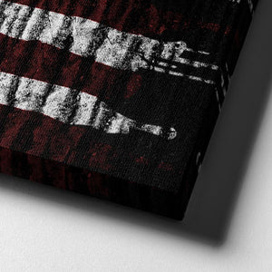 American Flag Paint Drip - Framed Canvas Painting Wall Art Office Decor, large modern pop artwork for home or office, Entrepreneur Inspirational and motivational Quotes on Canvas great for man cave or home. Perfect for Artwork Addicts. Made in USA, FREE Shipping.