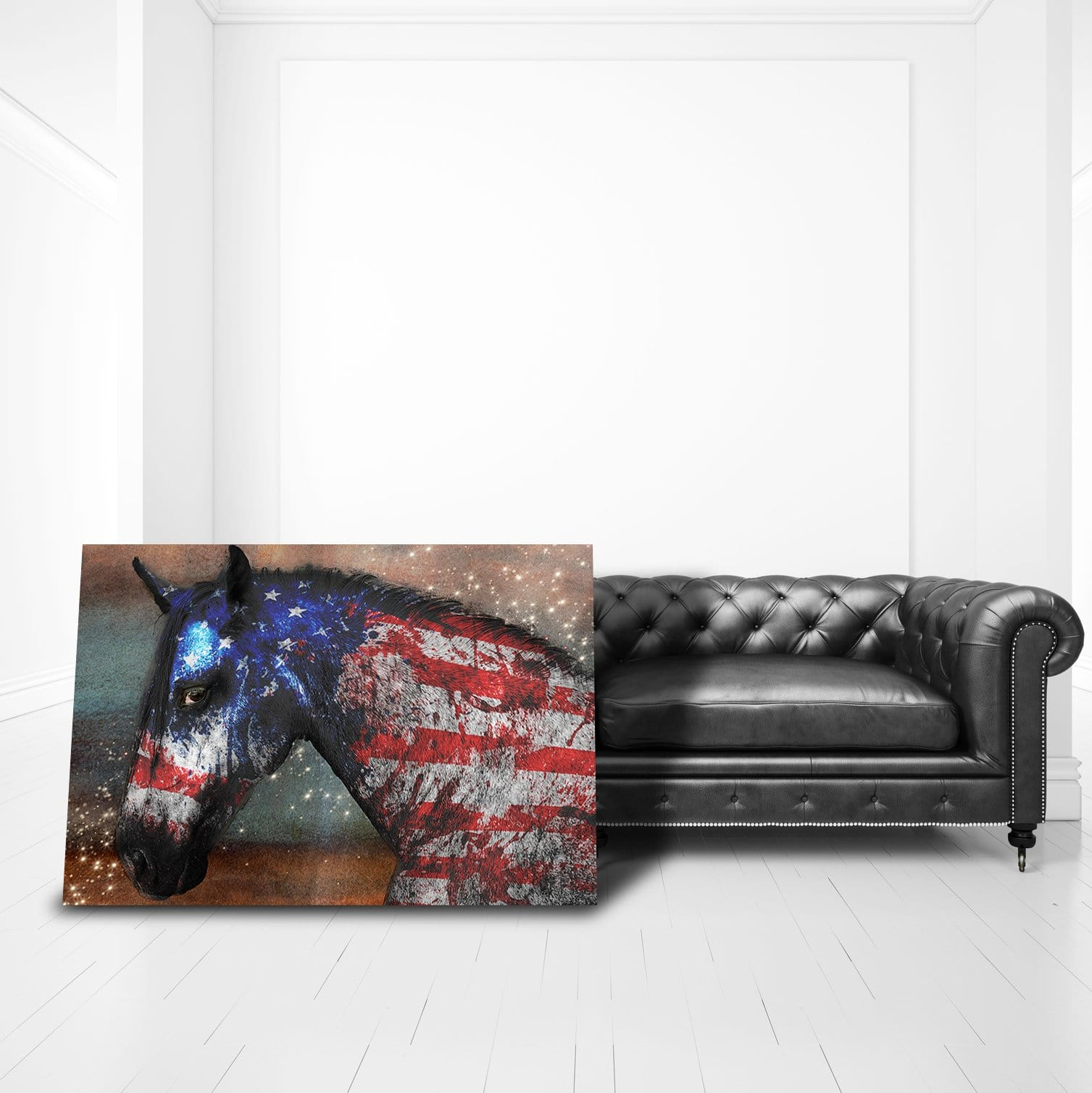 American Horse - Framed Canvas Painting Wall Art Office Decor, large modern pop artwork for home or office, Entrepreneur Inspirational and motivational Quotes on Canvas great for man cave or home. Perfect for Artwork Addicts. Made in USA, FREE Shipping.