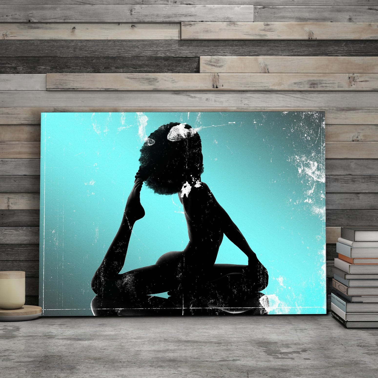 Black Beauty Afro Silhouette - Framed Canvas Painting Wall Art Office Decor, large modern pop artwork for home or office, Entrepreneur Inspirational and motivational Quotes on Canvas great for man cave or home. Perfect for Artwork Addicts. Made in USA, FREE Shipping.