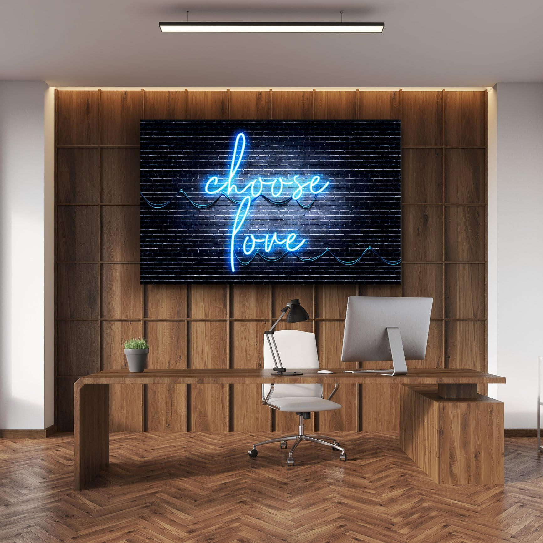 Choose Love - Framed Canvas Painting Wall Art Office Decor, large modern pop artwork for home or office, Entrepreneur Inspirational and motivational Quotes on Canvas great for man cave or home. Perfect for Artwork Addicts. Made in USA, FREE Shipping.