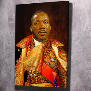 King MLK - Framed Canvas Painting Wall Art Office Decor, large modern pop artwork for home or office, Entrepreneur Inspirational and motivational Quotes on Canvas great for man cave or home. Perfect for Artwork Addicts. Made in USA, FREE Shipping.