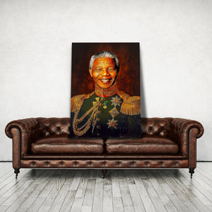 Prince Nelson Mandela - Framed Canvas Painting Wall Art Office Decor, large modern pop artwork for home or office, Entrepreneur Inspirational and motivational Quotes on Canvas great for man cave or home. Perfect for Artwork Addicts. Made in USA, FREE Shipping.