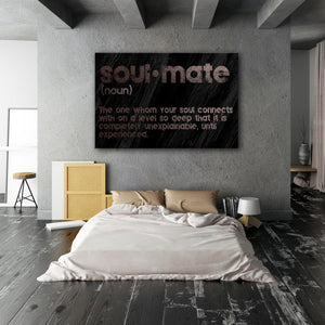 Soulmate Black - Framed Canvas Painting Wall Art Office Decor, large modern pop artwork for home or office, Entrepreneur Inspirational and motivational Quotes on Canvas great for man cave or home. Perfect for Artwork Addicts. Made in USA, FREE Shipping.