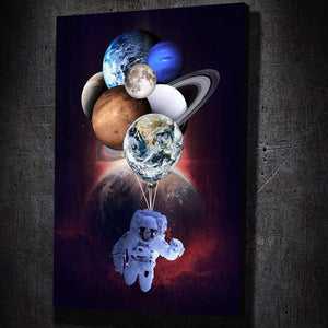 Astronaut Lover - Framed Canvas Painting Wall Art Office Decor, large modern pop artwork for home or office, Entrepreneur Inspirational and motivational Quotes on Canvas great for man cave or home. Perfect for Artwork Addicts. Made in USA, FREE Shipping.