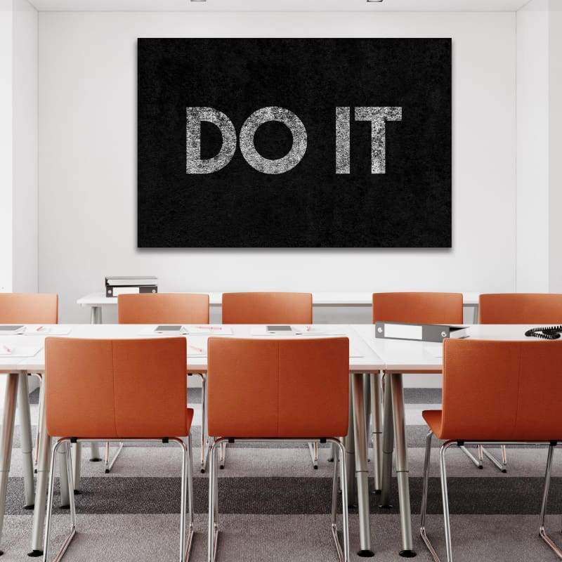 Do It - Framed Canvas Painting Wall Art Office Decor, large modern pop artwork for home or office, Entrepreneur Inspirational and motivational Quotes on Canvas great for man cave or home. Perfect for Artwork Addicts. Made in USA, FREE Shipping.