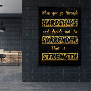 Hardships - Framed Canvas Painting Wall Art Office Decor, large modern pop artwork for home or office, Entrepreneur Inspirational and motivational Quotes on Canvas great for man cave or home. Perfect for Artwork Addicts. Made in USA, FREE Shipping.