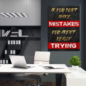 If You Don't - Framed Canvas Painting Wall Art Office Decor, large modern pop artwork for home or office, Entrepreneur Inspirational and motivational Quotes on Canvas great for man cave or home. Perfect for Artwork Addicts. Made in USA, FREE Shipping.