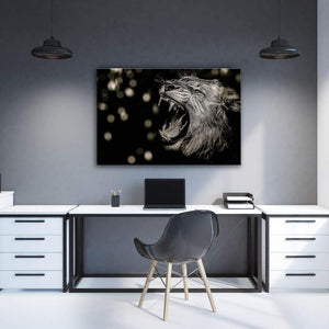 Lion Yellow Eyes - Framed Canvas Painting Wall Art Office Decor, large modern pop artwork for home or office, Entrepreneur Inspirational and motivational Quotes on Canvas great for man cave or home. Perfect for Artwork Addicts. Made in USA, FREE Shipping.