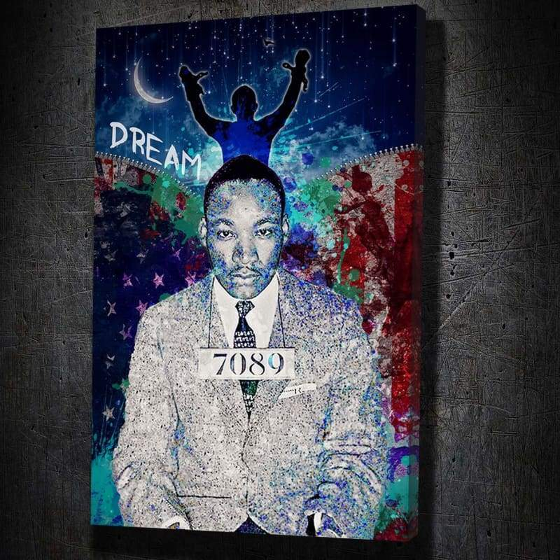 Martin Luther King Jr. - Dream - Framed Canvas Painting Wall Art Office Decor, large modern pop artwork for home or office, Entrepreneur Inspirational and motivational Quotes on Canvas great for man cave or home. Perfect for Artwork Addicts. Made in USA, FREE Shipping.