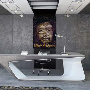 Martin Luther King Jr. I Have a Dream Quote - Framed Canvas Painting Wall Art Office Decor, large modern pop artwork for home or office, Entrepreneur Inspirational and motivational Quotes on Canvas great for man cave or home. Perfect for Artwork Addicts. Made in USA, FREE Shipping.