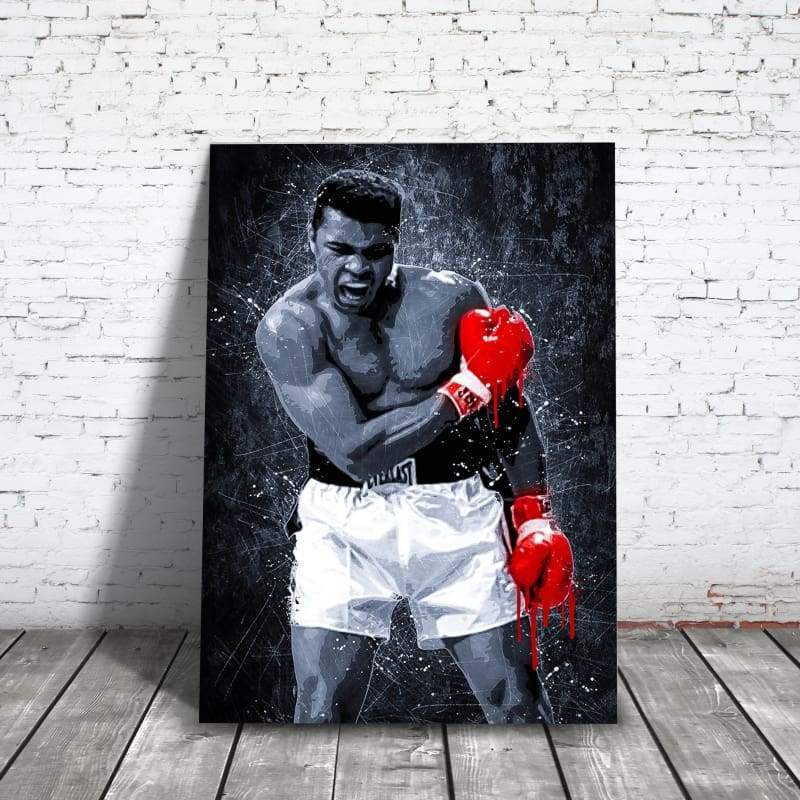 Muhammad Ali - Framed Canvas Painting Wall Art Office Decor, large modern pop artwork for home or office, Entrepreneur Inspirational and motivational Quotes on Canvas great for man cave or home. Perfect for Artwork Addicts. Made in USA, FREE Shipping.