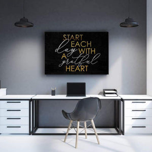 Start Day - Framed Canvas Painting Wall Art Office Decor, large modern pop artwork for home or office, Entrepreneur Inspirational and motivational Quotes on Canvas great for man cave or home. Perfect for Artwork Addicts. Made in USA, FREE Shipping.