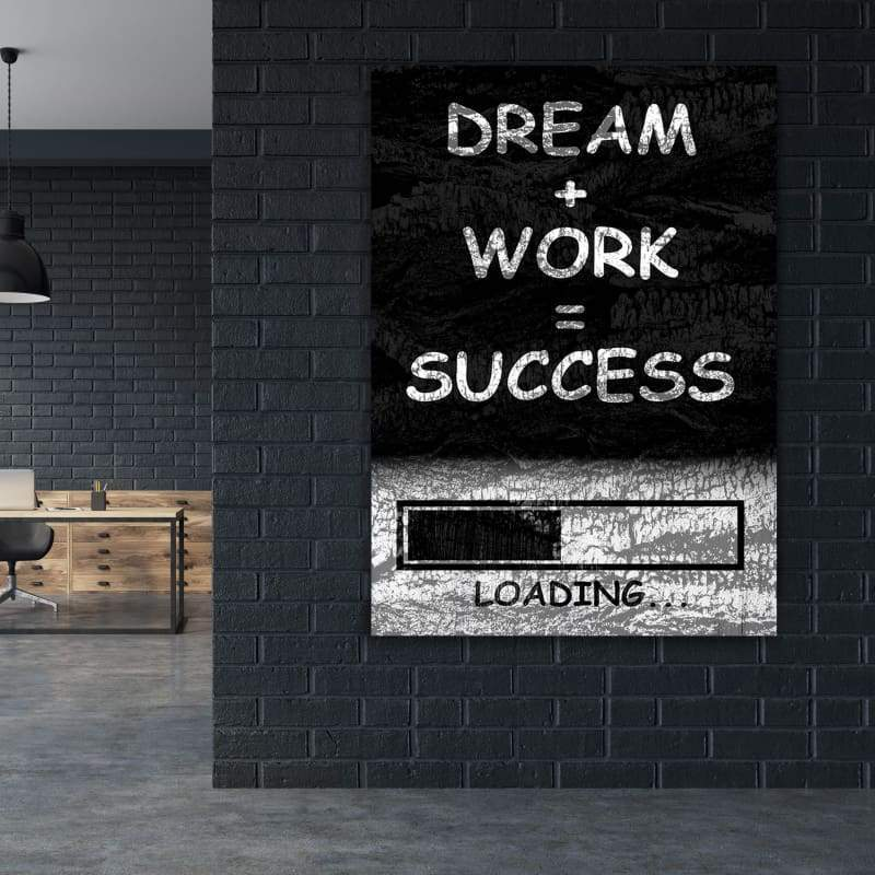 Success Arts - Framed Canvas Painting Wall Art Office Decor, large modern pop artwork for home or office, Entrepreneur Inspirational and motivational Quotes on Canvas great for man cave or home. Perfect for Artwork Addicts. Made in USA, FREE Shipping.