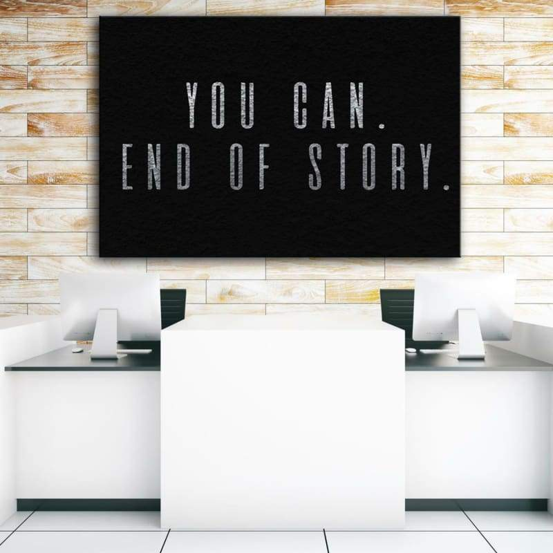 You Can - Framed Canvas Painting Wall Art Office Decor, large modern pop artwork for home or office, Entrepreneur Inspirational and motivational Quotes on Canvas great for man cave or home. Perfect for Artwork Addicts. Made in USA, FREE Shipping.
