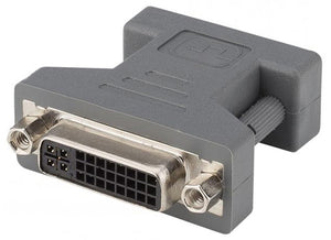 HICON DVS2-FM Video-Adapter, SCHWARZ, gerade, DVI female / VGA male - Kampro-Shop