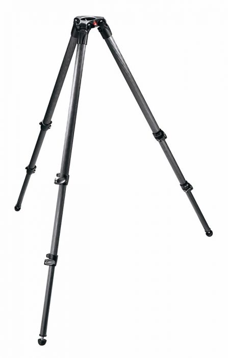 Manfrotto  MPRO Carbon Videostativ mit 75mm Halbschale, 3 Segmente - Kampro-Shop