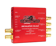 Decimator Design DECIMATOR-QUAD Select 3G/HD/SD-SDI Quad Split m. SD-SDI & Composite Outs - Kampro-Shop