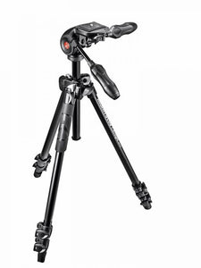 Manfrotto 290 Light Alu Stativ QPL mit 3-Wege-Neiger, 3 Segmente - Kampro-Shop
