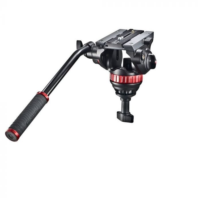 Manfrotto Pro Fluid-Video-Neiger mit 75mm Halbkugel und 504PL - Kampro-Shop