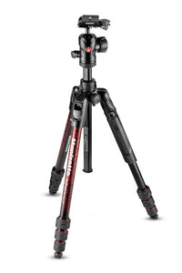 Manfrotto Befree Advanced Alu Reisestativ Twist mit Kugelkopf, rot - Kampro-Shop