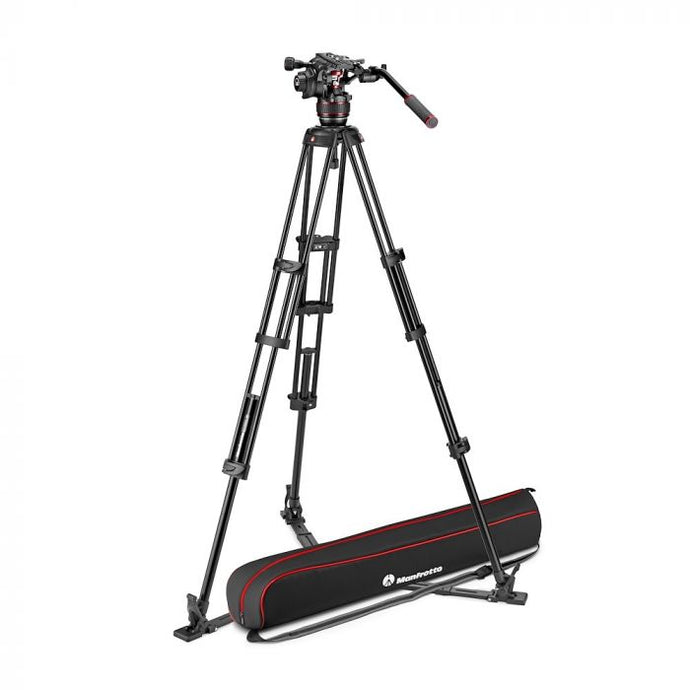 Manfrotto Nitrotech 608 Aluminium Video-Stativ mit Bodenspinne - Kampro-Shop