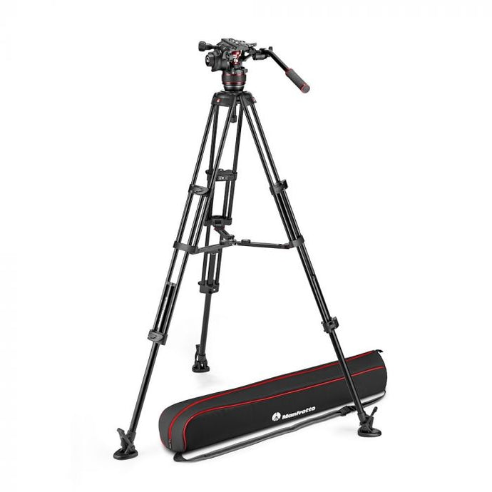 Manfrotto Nitrotech 608 Aluminium Video-Stativ mit Mittelspinne - Kampro-Shop