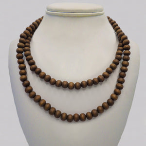 Coconut Wood  Mala Bead Necklace