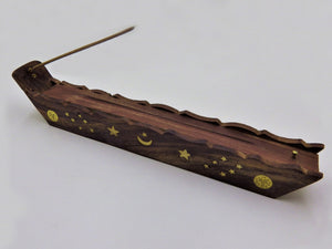 Wooden Incense Burner - Starry Night