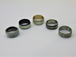 Stainless spinner rings