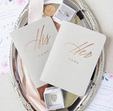 Rose Gold Foil Wedding Vow Books - Holiday Hostess